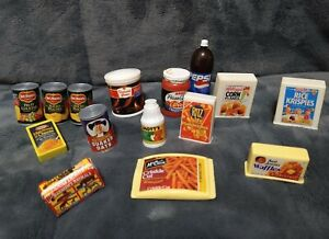 VINTAGE LOT BARBIE & TYCO FOOD ACCESSORIES GROCERY