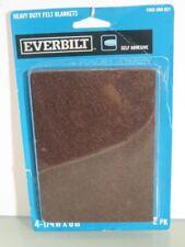 "Brown Felt Adhesive felt blankets by Everbilt 4 1/4""  x 6"" (B8)"