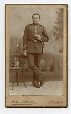 CDV . Atelier STADLER . AESCHACH bei lindau. Soldat Allemand en uniforme.Soldier