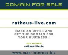 rathaus-live.com - Top Domain für Ihre Gastronomie - Restaurant, Café, Bistro us