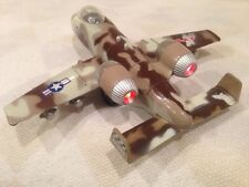 """B/O Tailwinds A-10 Thunderbolt Fighter, 6"""" Diecast Pull Back Sound Light Toy BR"""