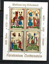 LIECHTENSTEIN MNH 1970 MS525 800TH ANV OF WOLFRAM VON ESCHENBACH MINI SHEET