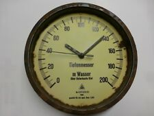 Uhr/Wanduhr/Tiefenmesser/U Boot/VII C/Submarine/SIB/1944/WK 2/Marine/U 995