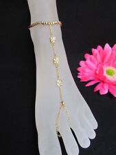 Foot Chain Jewelry Flowers Roses Rhinestones New Women Gold Fashion Metal Anklet