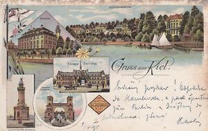 Ansichtskarten, AK, Kiel, Bismark,Denkmal,Leuchtturm, Holtenau,Brücke, Levensau