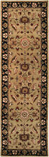 3x12 Runner Traditional Oriental Plush Hand Tufted Wool Black Area Rug