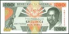 TWN - TANZANIA 25b - 200 Shilingi 1993 UNC Prefix SM
