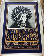 Jimi Hendrix Los Angeles Shrine John Van Hamersveld #4/180 Signed Poster Print