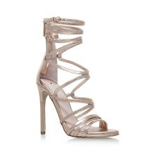 Carvela Gilded Womens Peep-toe Gold/bronze Gladiator HEELS UK 4