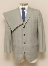 Vintage Mens 40S 2 Piece Brown/Red/Grey Plaid Wool Suit William Clan Ford Ceo