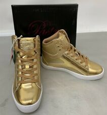NEW Love Pastry Pop Tart Glitter Kid's Hip Hop Shoe Sneaker, Gold, Size 3