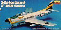 Lindberg 1:48 Motorized F-86D Sabre Plastic Aircraft Model Kit #2334U