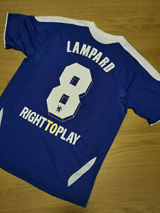 2012 Chelsea Champions Final Home Vintage Soccer Jersey #8 LAMPARD Men Size [L]