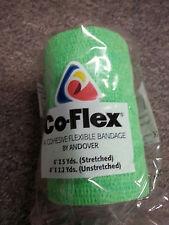 "Co-Flex Coflex Bandage Pet Dog Horse Tape Wrap 4""x5 Yards Green"