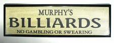 NEW! Personalized Billiards Sign; Wall Plaque
