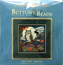"Mill Hill point de croix perles Kit automne ""night owl"" 14-2203"