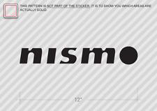 "(2) 12"" NISMO Sticker Die Cut Decal logo"