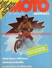 MOTO JOURNAL  151 KAWASAKI 400 S3 Charles COURTARD Eléphant Salon Bastille 1974