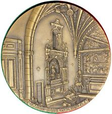 TOMB / TOMB OF RENAISSANCE STYLE BRONZE MEDAL BY O MEDALHÃO. M33