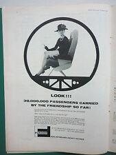 3/1964 PUB FOKKER AIRCRAFT HOLLAND F27 FRIENDSHIP / KING RADIO ORIGINAL AD
