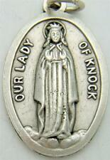 "MRT Our Lady Of Knock Ireland Madonna Medal Silver Plate 3/4"" Italian Made Gift"