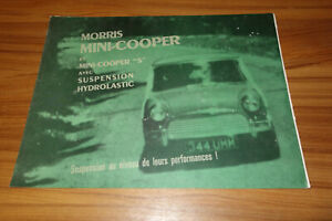 Dépliant MORRIS MINI COOPER / COOPER S de 1964