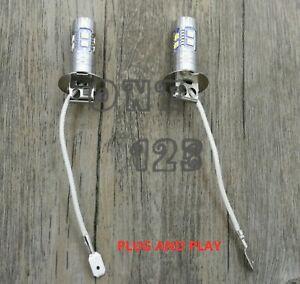 2PCS H3 CREE LED Fog Light Bulbs Conversion Kit Super Bright 3000k yellow 55W