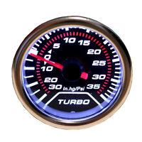 Universal 52mm 2″ Digital LED Turbo Boost Meter Gauge Kit Smoke Face Tint Psi