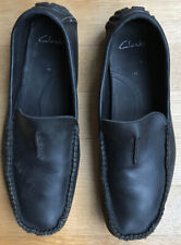 Clark Mens Leather Loafers Size 11 UK Black