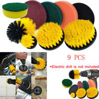 9PCS Drill Brush Scrub Pads Power Scrubber Cleaning Kit All Purpose Cleaner Dril