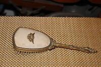 Vintage Vanity Hair Brush Angel Cherubs Gold Metal Scrolls