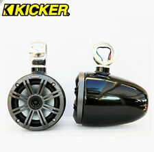 """Angle Free Black Coated Wakeboard Speaker Kicker 45KM654CW 6.5"""" Marine Speaker"""