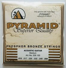 Pyramid Phosphor Bronze Acoustic Guitar Strings gauges 13-56