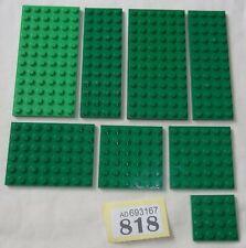 **LEGO TOWN CITY VARIOUS GREEN PLATES **#818
