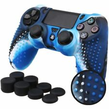Ps4 Silicone Anti-slip Cover Skin for Slim Pro Controller With 8 Thumb Grips