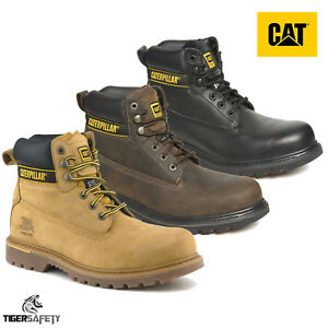 Caterpillar CAT Holton SB SRC Mens Steel Toe Cap Safety Boots Work Boot PPE