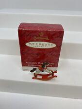 Hallmark Keepsake Miniature Rocking Horse Ornament 2001 Collector's Club