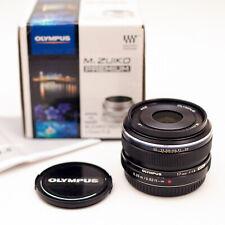 Black Olympus M.ZUIKO 17mm f1.8 pancake Lens for E-M10 E-M5 E-M1 Lumix Panasonic