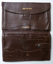 Used Mens Genuine Grained Leather Wallet without Card Inserts. (Dark Brown)