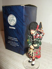 Corgi Icon FO7181 Hand Painted Metal Piper Corporal in The Black Watch & stand