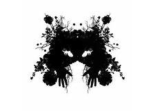 Framed Print - Psychology Inkblot Art (Picture Poster Mental Health Mind Yoga)