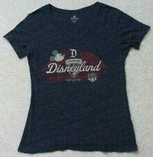 Disneyland Gray V-Neck Cotton Blend Tee T-Shirt Short Sleeve Medium Womans Women