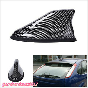 Strong Signal Black Carbon Fiber Car Off-Road Shark Fin Antenna Aerial AM FM