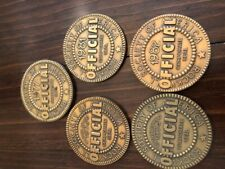 Rockwell Society Of America Official Coins Medallions Calenders Set Of 5