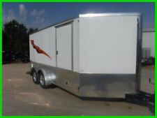 7 x 14 14ft Enclosed Cargo Motorcycle Low Hauler Bike ATV Harley Trike Trailer