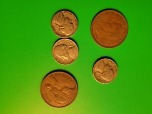 1940s Old US & British Coin Lot Collection