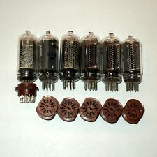 IN-8 Nixie Tube 6pcs + 6pcs socket in 1 lot. NOS USSR tested never used