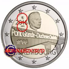 2 Euro Commémorative Luxembourg 2016 BE - Duchesse Charlotte Pont et Lion