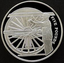 2004 Alderney Silver Proof £5 Golden Age of Steam Preparing Loco Royal Mint COA