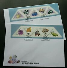 Guinea Minerals 2011 Gemstone Stone Butterfly (FDC pair) *odd shape